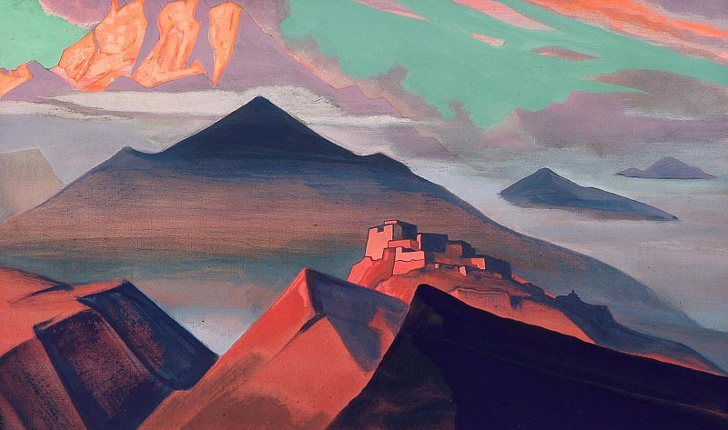 """Holy Mountains # 28 (Tent Mountain. From the """"Holy Mountain""""). Roerich N.K. (Part 4)"""