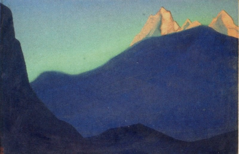 The Himalayas # 112 The mountain topped at dawn. Roerich N.K. (Part 4)