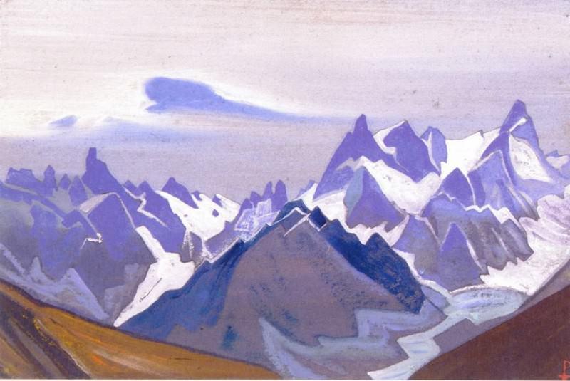 Гималаи #65 Гряда скалистых пиков. Рерих Н.К. (Часть 4)
