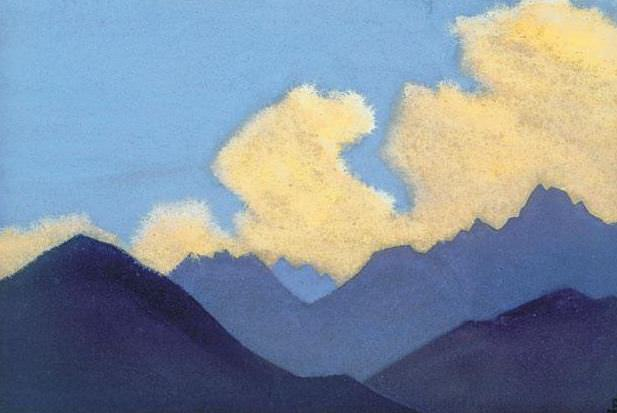 Lahul # 104 Lahul (Clouds over the blue ridge). Roerich N.K. (Part 4)
