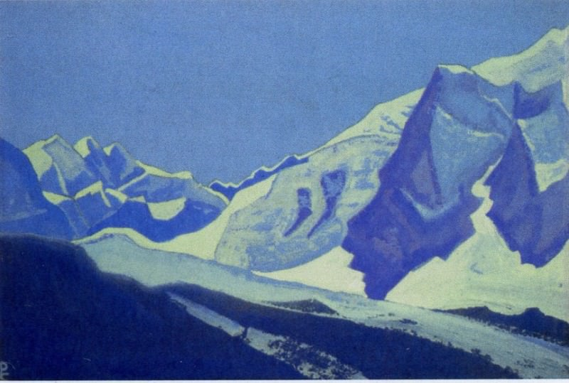 Tashapo # 171 (Himalayas. Blue range). Roerich N.K. (Part 4)