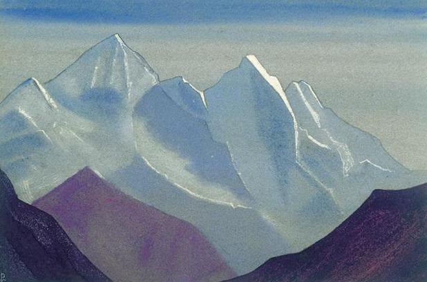 The Himalayas # 187 The Ghost Peaks. Roerich N.K. (Part 4)
