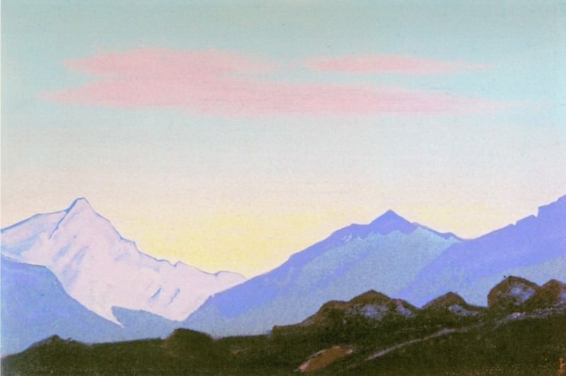The Himalayas (Sunrise) # 189. Roerich N.K. (Part 4)
