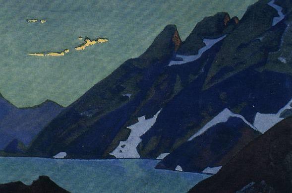 Mountain Lake # 2 (Lake Naga. Kashmir). Roerich N.K. (Part 4)