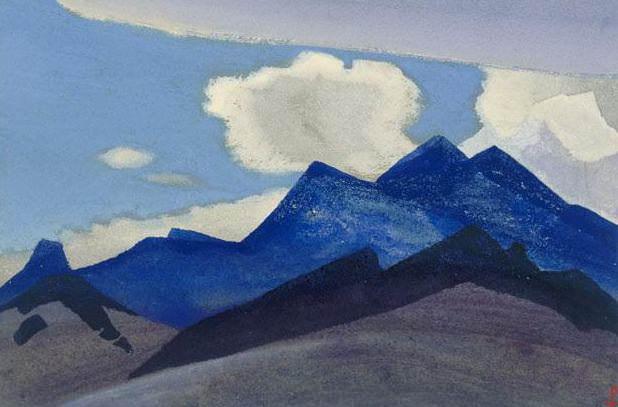 Himalayas # 78 Dark blue peaks. Roerich N.K. (Part 4)