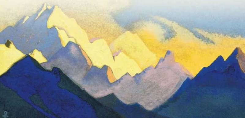 The Himalayas # 113 The color of the snow. Roerich N.K. (Part 4)