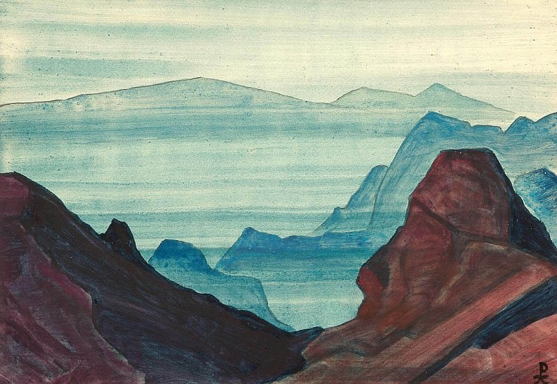 Himalayas album leaf (2). Roerich N.K. (Part 4)