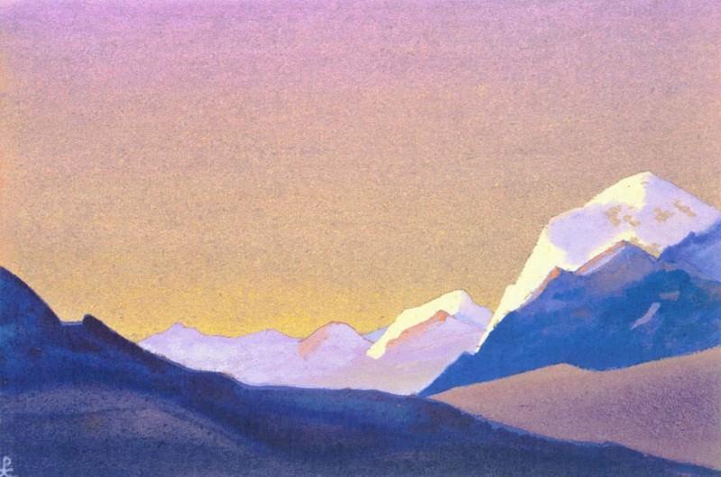 Evening # 159 (sunset rays). Roerich N.K. (Part 4)