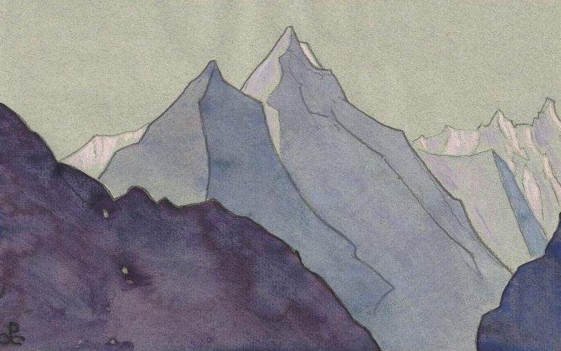 Тибетский этюд. Рерих Н.К. (Часть 4)