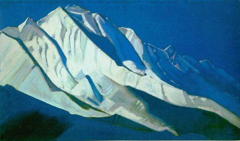 Holy Mountains # 30 (the Himalayas. Rakopushi). Roerich N.K. (Part 4)