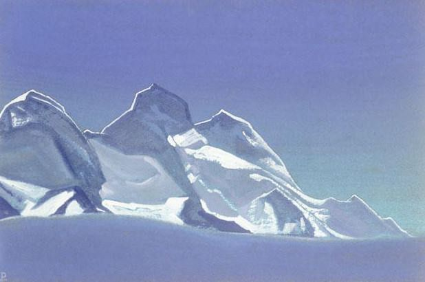 Himalayas # 75 Three Knight. Roerich N.K. (Part 4)