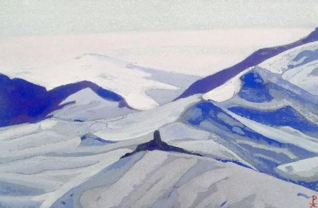 Pass # 123 pass (Snow desert). Roerich N.K. (Part 4)