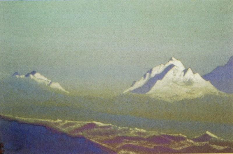 Himalayas # 67 Snowy peaks. Roerich N.K. (Part 4)