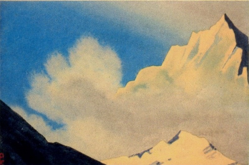 The Himalayas # 150 The Golden Peak and the Cloud. Roerich N.K. (Part 4)