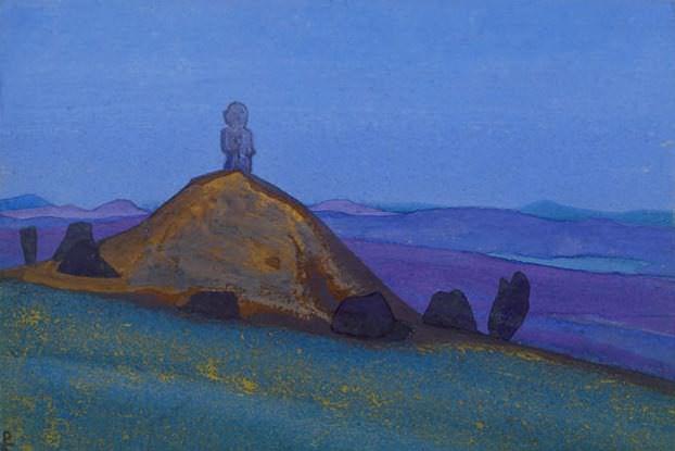 Stone woman. Mongolia # 208. Roerich N.K. (Part 4)