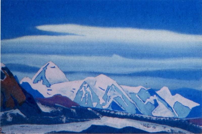 Pass # 151 (Icy rock illuminated pink light). Roerich N.K. (Part 4)