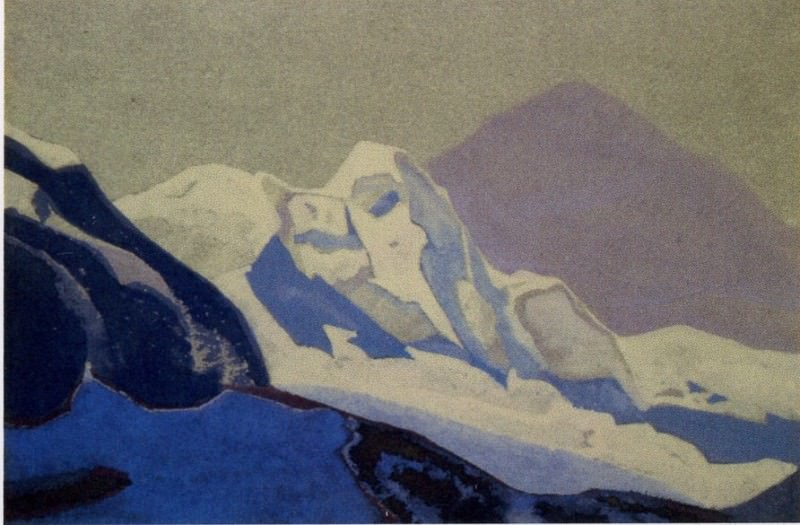 The Himalayas # 196 Snow Country. Roerich N.K. (Part 4)