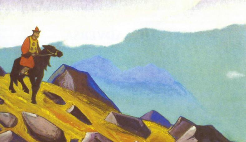 Jenghiz Khan # 88 Jenghiz Khan (rider. Mongolia). Roerich N.K. (Part 4)