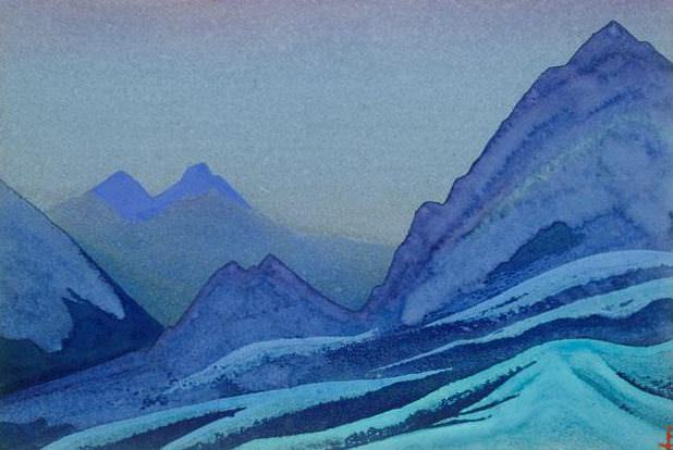 The Himalayas # 164 Night in the Mountains. Roerich N.K. (Part 4)