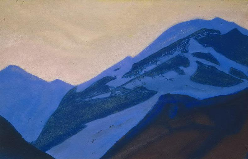 Kuluta # 20 Kuluta (Blue mountain at sunset). Roerich N.K. (Part 4)