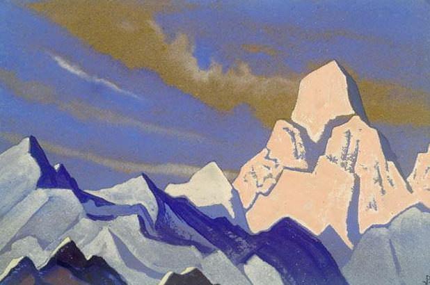 Himalayas # 92 pink rock. Roerich N.K. (Part 4)