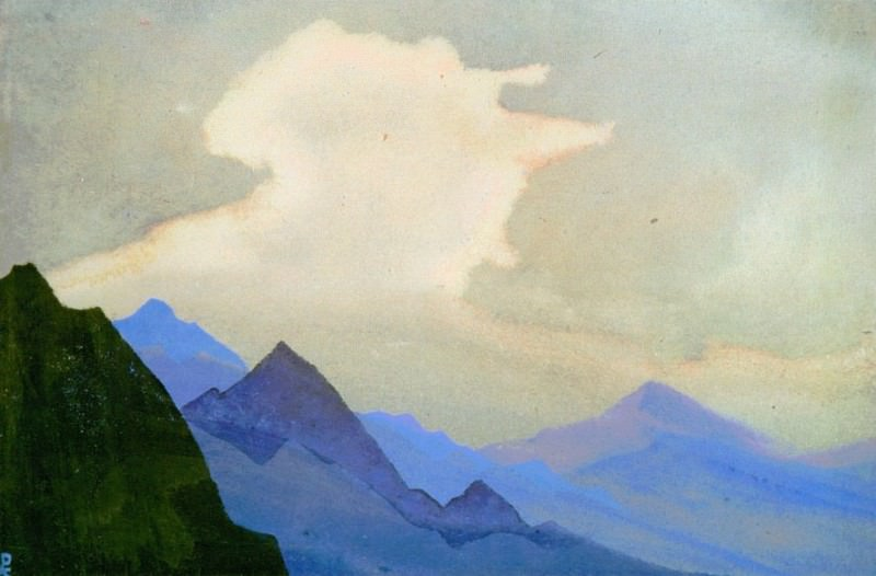 Snowy cloud # 222. Roerich N.K. (Part 4)