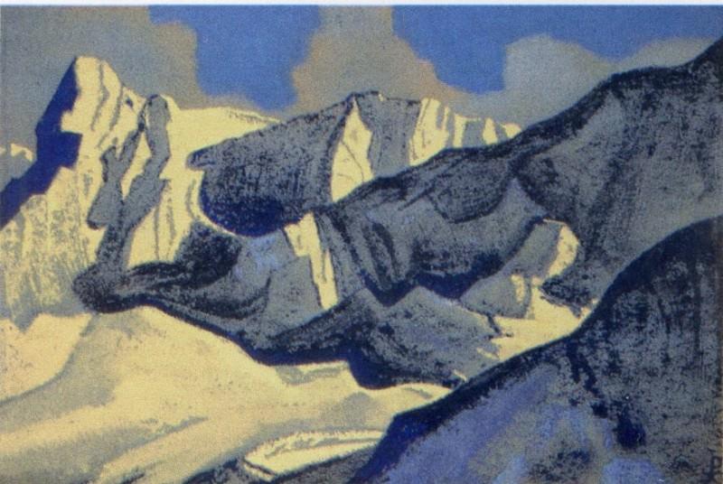 The Himalayas (Siniolchu) # 128 (Glaciers). Roerich N.K. (Part 4)