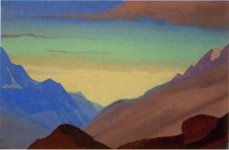 The Himalayas # 96 The divergent clouds. Roerich N.K. (Part 4)