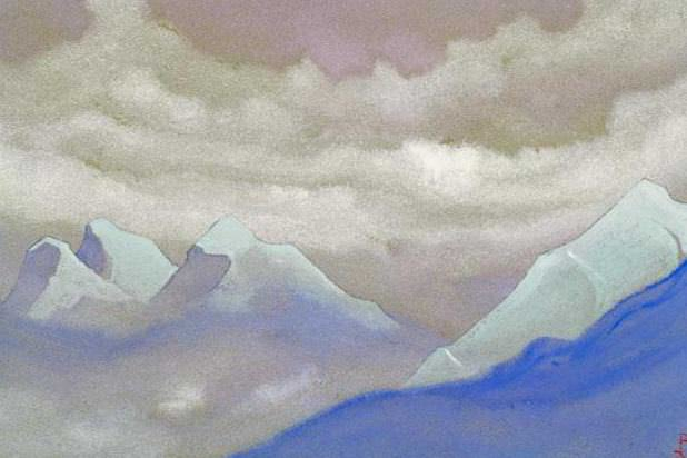 Himalayas # 69 green beam in the mountains. Roerich N.K. (Part 4)
