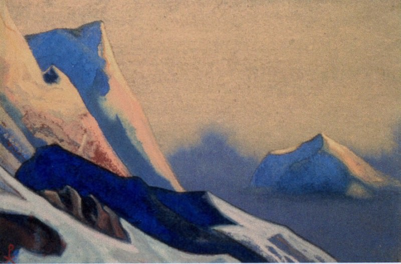Kuluta # 195 (Lilac sunset. Rocks). Roerich N.K. (Part 4)