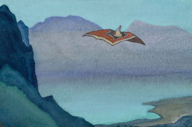 Chinese tale (ESC.) # 194 (Chinese Fairy Tale (Magic Carpet). Sketch). Roerich N.K. (Part 4)