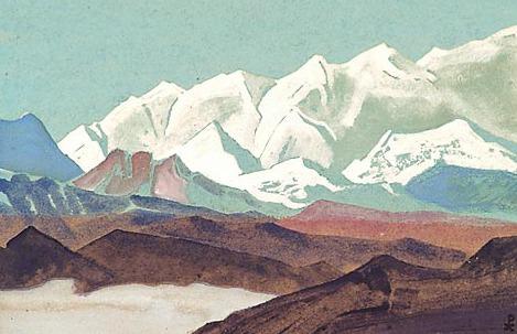 Himalayas. Circuit Kinchendzhungi # 54 (Himalayas. Kinchenjunga chain). Roerich N.K. (Part 4)