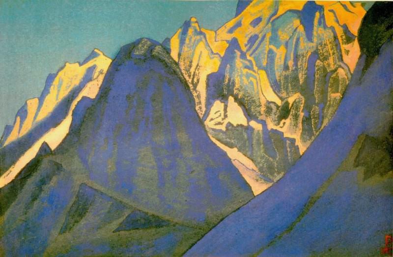 The Himalayas # 183 The Hulking Peaks. Roerich N.K. (Part 4)