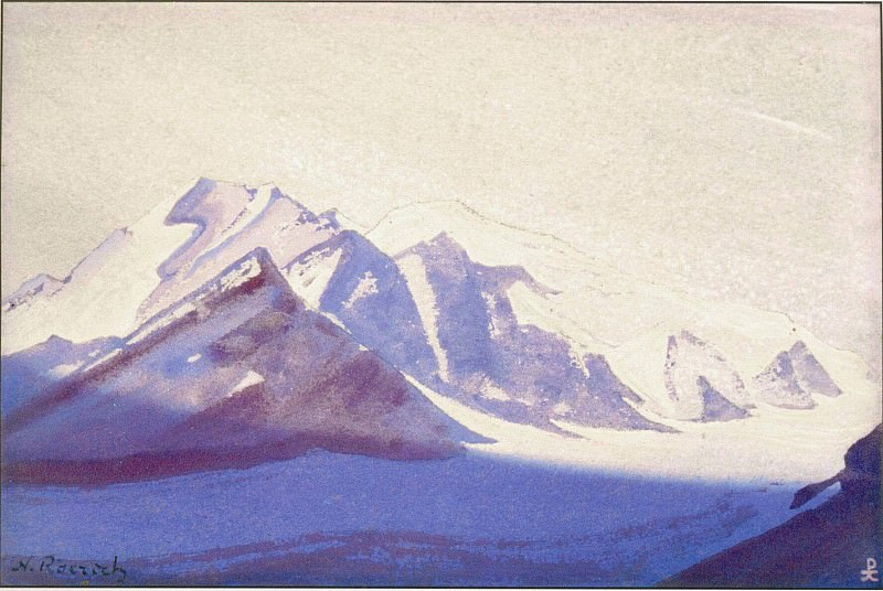 Thang # 132 Tanggula Pass (Clean mountain snows). Roerich N.K. (Part 4)