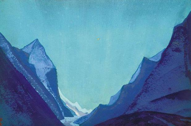 Sunrise # 4 Sunrise (Glacier). Roerich N.K. (Part 4)