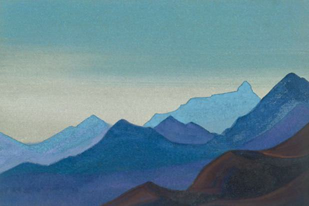 Everest # 179 Everest (ridge of the ridge). Roerich N.K. (Part 4)