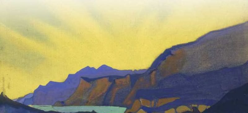 Mountain lake # 21. Roerich N.K. (Part 4)
