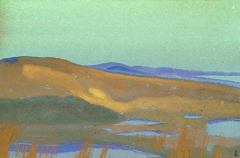 Swamp Tsaidam # 160. Roerich N.K. (Part 4)