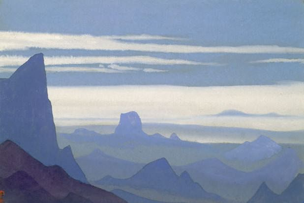 For Kuchar # 27 During Kuchar (Blue given). Roerich N.K. (Part 4)