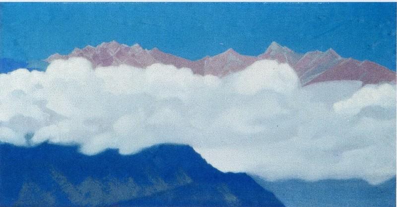 Облака на вершинах. Гималаи. Рерих Н.К. (Часть 4)