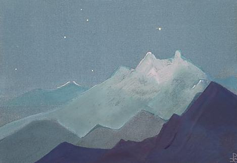 Moon mountain sketch) # 84 (Himalaya (Lunar mountains). Roerich N.K. (Part 4)