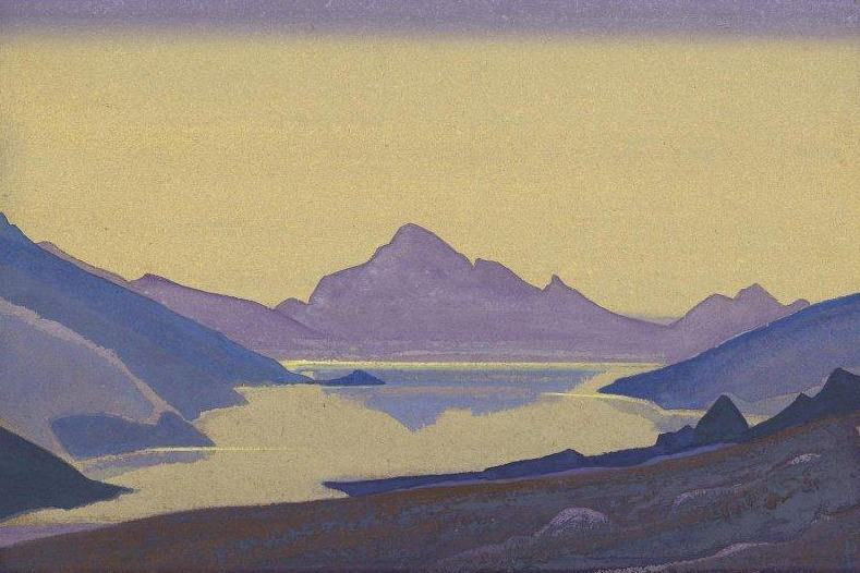 Himalayan landscape. Lake. Roerich N.K. (Part 4)