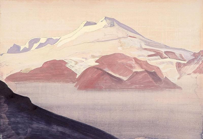 Elbrus. Caucasus (Landscape. Sheet) # 109 (Elbrus, Caucasus. Album pages). Roerich N.K. (Part 4)