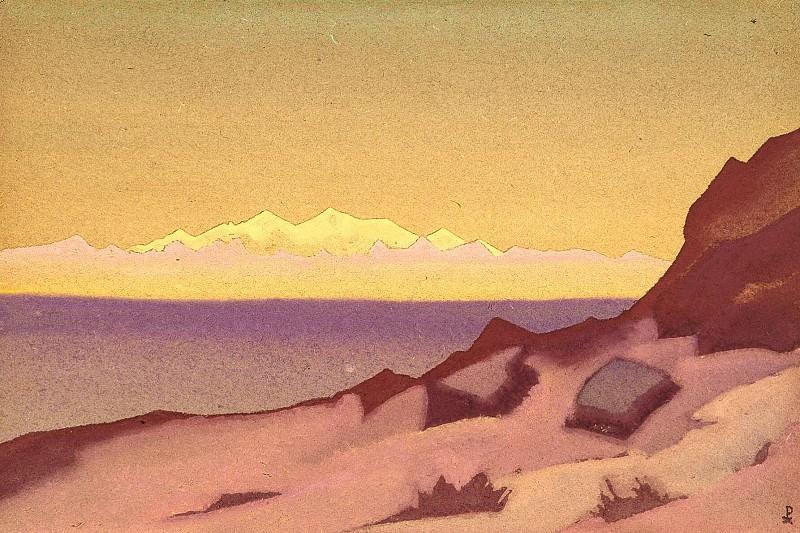 Tibet boundary. Tsaidam # 169. Roerich N.K. (Part 4)