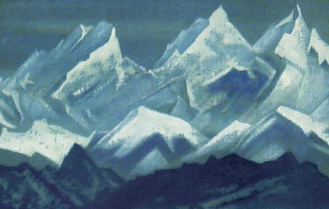 The Himalayas (Three snowy peaks). Roerich N.K. (Part 4)
