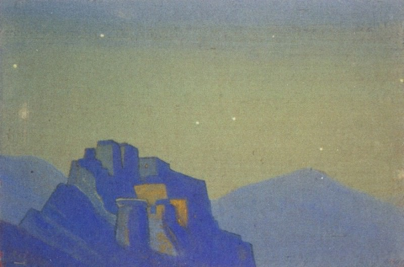 Tibet # 20 Tibet (starry night in the mountains). Roerich N.K. (Part 4)