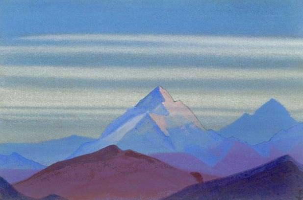 Himalayas # 81 wee haze. Roerich N.K. (Part 4)