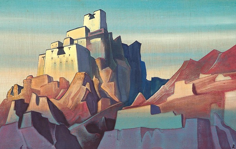 Citadel in the Himalayas # 16 (Castle in Ladakh). Roerich N.K. (Part 4)
