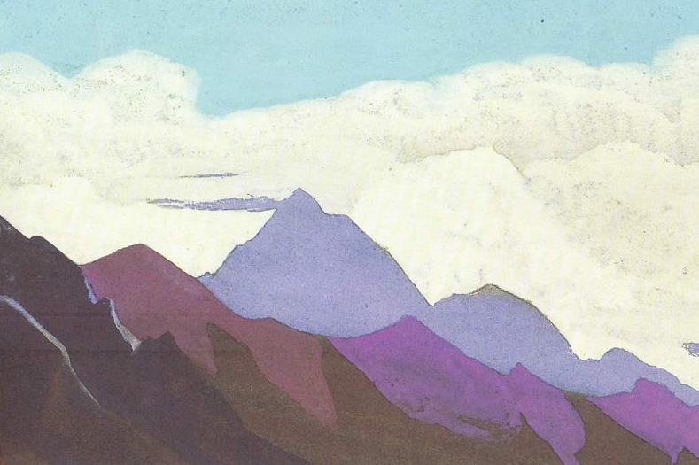 The Himalayas # 151 In the cloudy ocean. Roerich N.K. (Part 4)