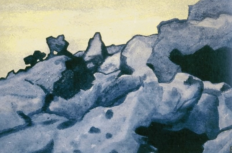Bain Caves About # 206 (Bain-About Cave. Mongolia). Roerich N.K. (Part 4)